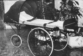 old ambulance trolley