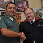 An Ealing Butler is reunited with the paramedic who cared for him