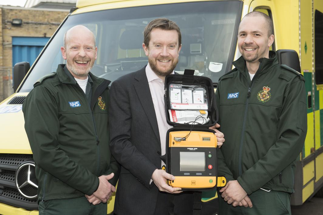 Cardiac arrest survivor Neil Cole thanks the paramedics who saved his life