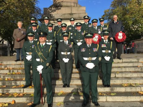 Our Ceremonial Unit take part in the Cenotaph March Past