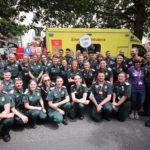 London Ambulance staff at Pride in London 2017