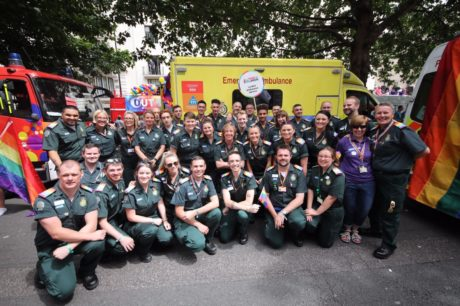 London Ambulance Service leads the way at Pride in London