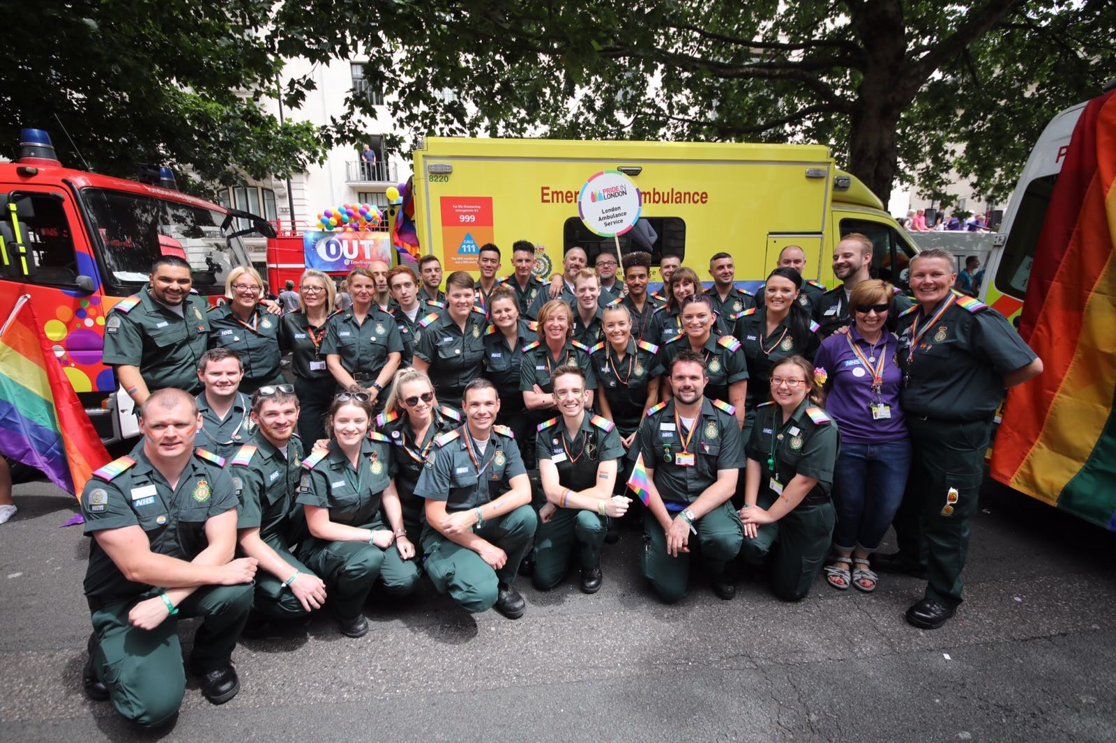 London Ambulance staff at Pride in London 2017