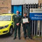 Paramedic Priscilla Currie award