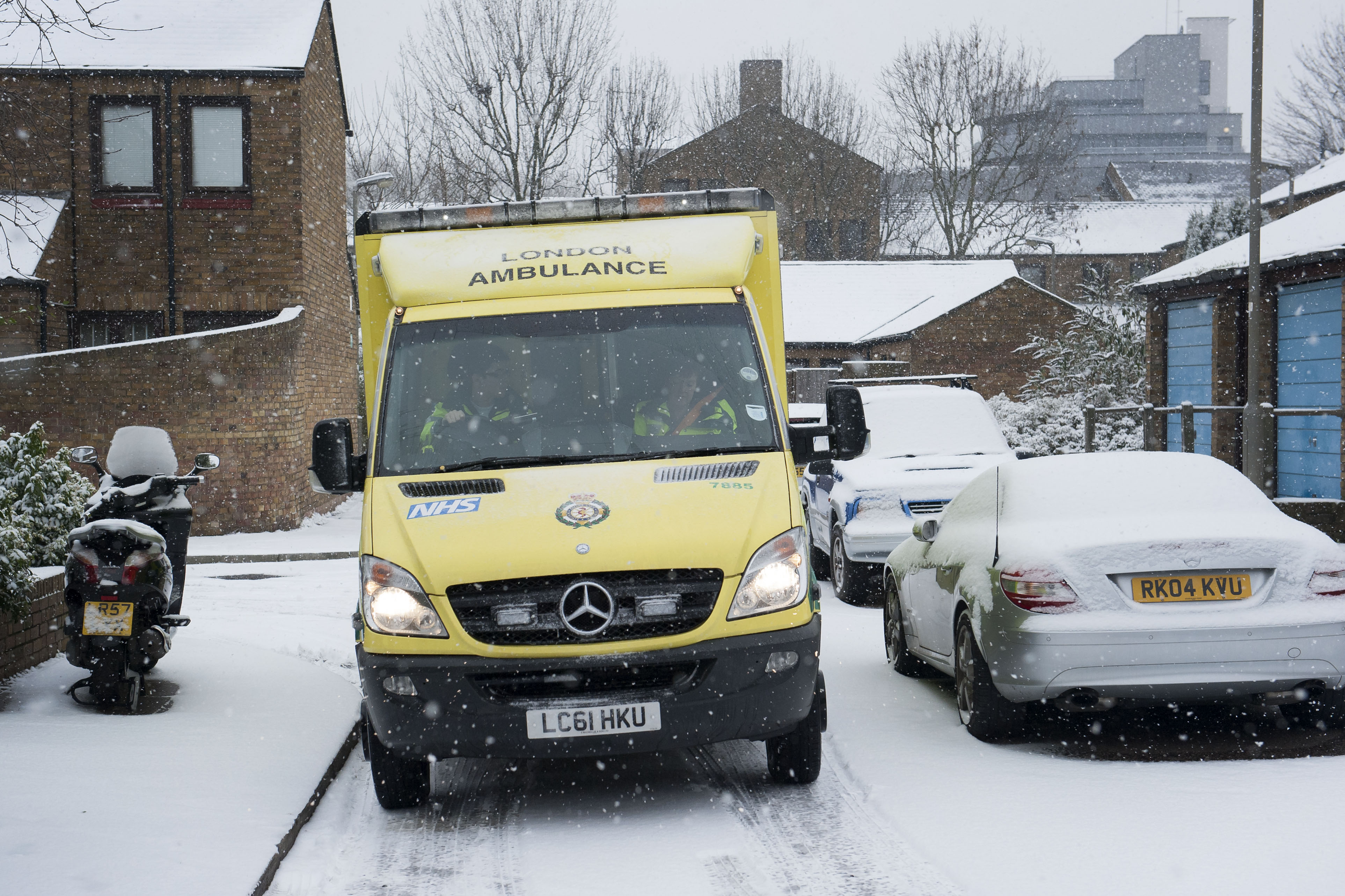 Ambulance in snow
