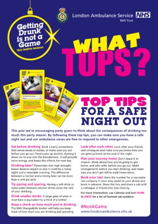Festive alcohol awareness campaign top tips