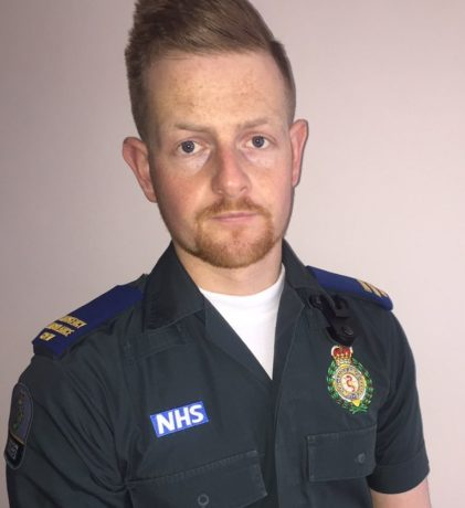 Medic Harry Turner was assaulted while treating a patient