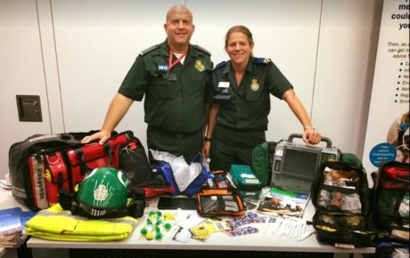 Medics Pete and Caroline at one of our public education events