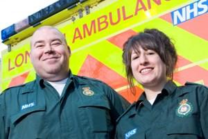 Emergency Medical Technician Richard Maxon and Student Paramedic Samantha Klasinski