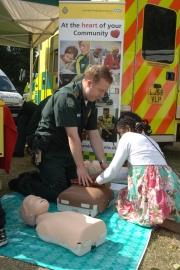 Emergency Care Practitioner John Yates demonstrates basic life support