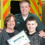 Featured image for Schoolboy commended for helping to save nan