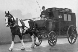 Horse and cart ambulance from 1893