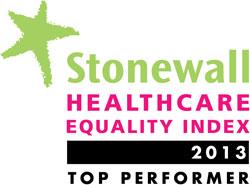 Stonewall Health Equality Index logo