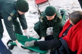 Woman fallen in snow 270x180