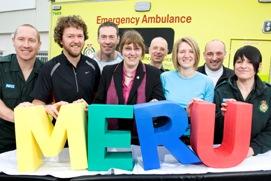 MERU marathon runners with Susan Brumpton Chief Executive of MERU