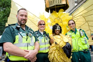 London Ambulance Service staff at the carnival last year