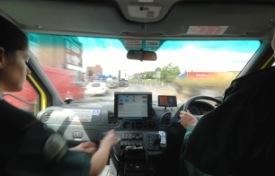 Ambulance moving fast