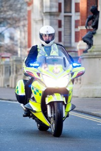 Motorcycle responder in Croydon