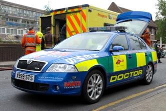 London's Air Ambulance response car