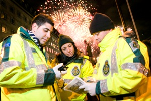Ambulance staff working on New Year's Eve