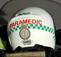 Lonodn Ambulance Service motorcycle paramedic helmet