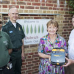 Featured image for Local MP presents a defibrillator to the Dulwich Sports Club