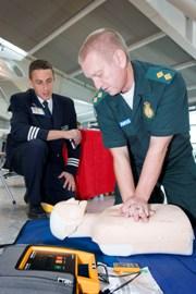 Martin Bullock teaching lifesaving skills