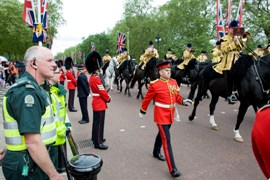 Staff at the Queen's Diamond Jubilee procession