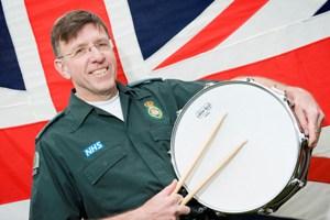 Sean Fullerton with his drum