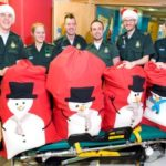 Featured image for London ambulance medics hand out gifts to poorly children