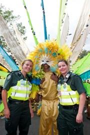 Ambulnace staff at Notting Hill Carnival