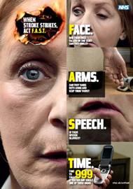 Stroke campaign poster - FAST