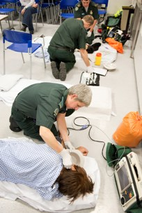 Staff treating patients at the West End alcohol recovery centre