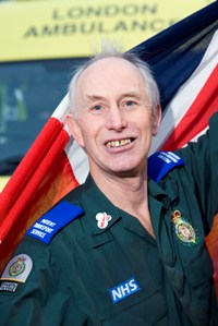 Patient transport worker Jim Mundy will run with Olympic flame this summer