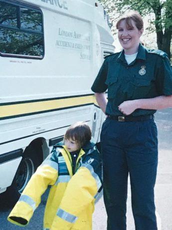 Amelia as a child alongside Tina
