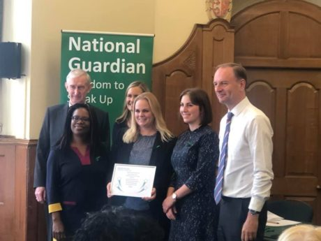 Winning the Freedom To Speak Up Index 2019 award