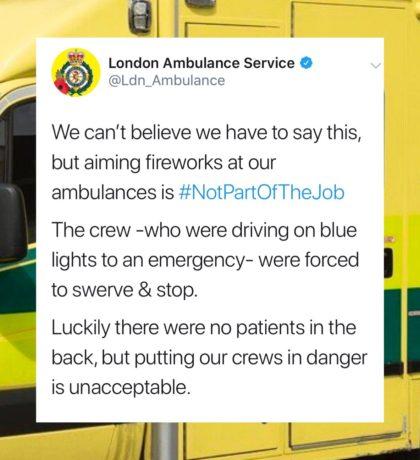Ambulance firework tweet