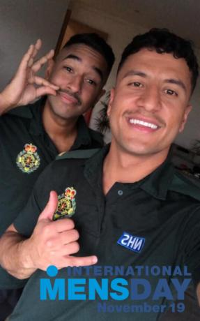 Johann and Masih Movember
