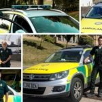 image montage of volunteer responders and their response cars