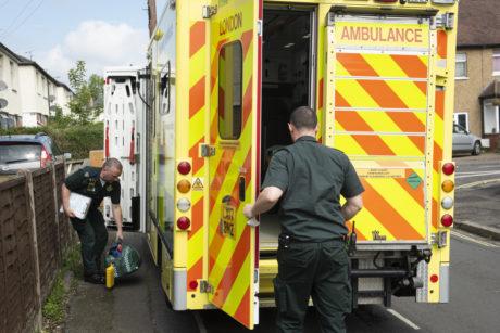 Paramedics and an Ambulance