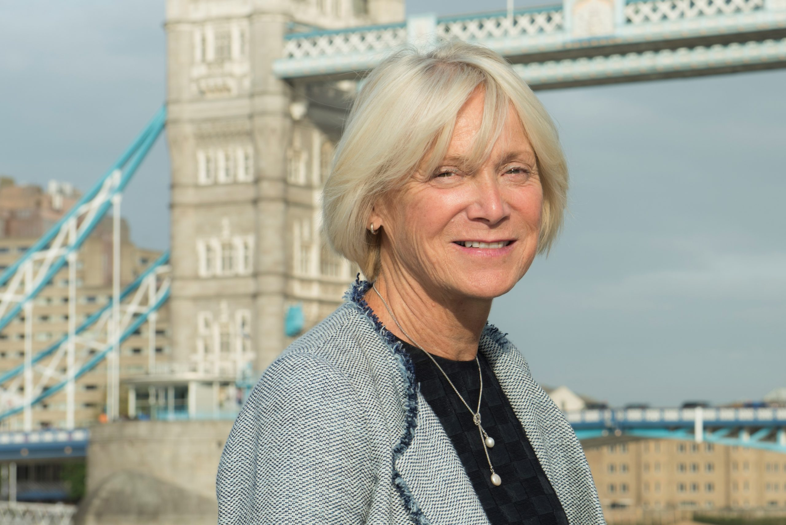 Heather Lawrence photo in front of Tower Bridge