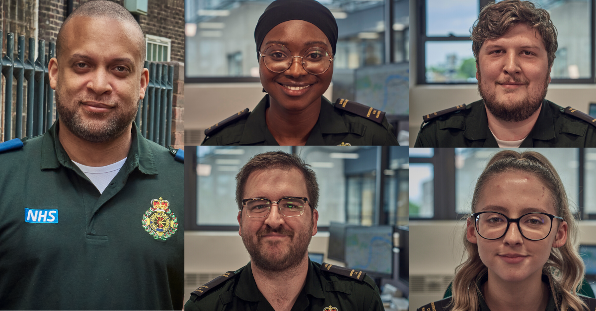 collage image of call handlers smiling to camera