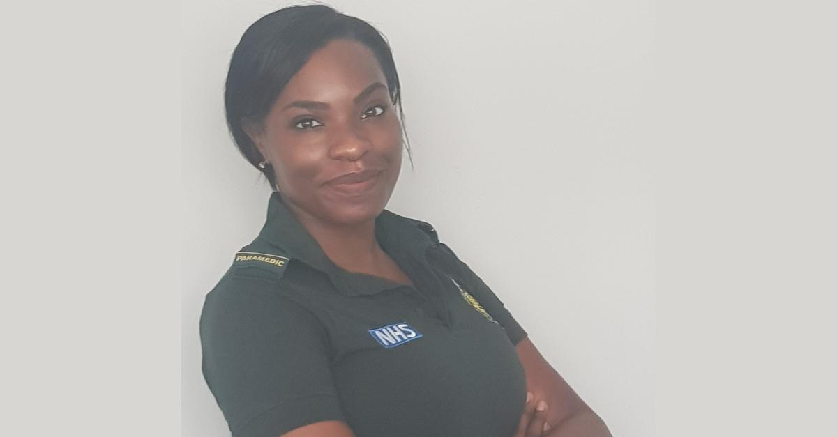 Charlene in her uniform