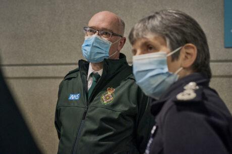 Metropolitan Police Commissioner Cressida Dick stood alongside London Ambulance Chief Executive