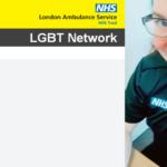 a photo of Brooke in LAS uniform alongside the LAS LGBT network logo