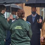 Duke and Duchess of Cambridge in conversation with LAS crews