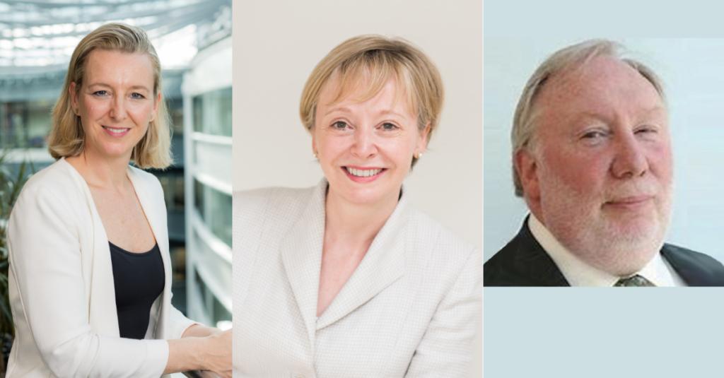 Compilation image of three new senior leadership appointees