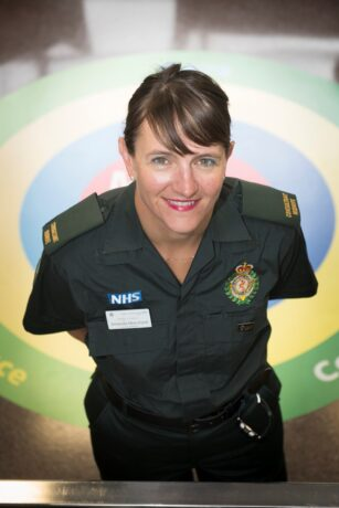 Amanda in uniform smiling for a picture