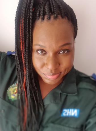 Shurelle smiling portrait shot in her LAS uniform